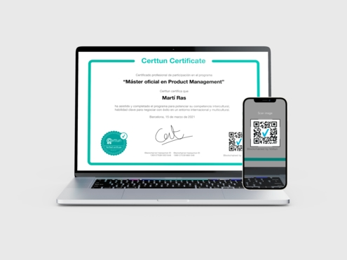All the certificate sare 100% verifiable with a QR code